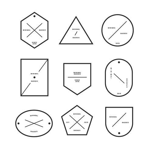 Samling av minimal stil märken
