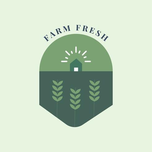 Bauernhof frisch und Bio-Symbol