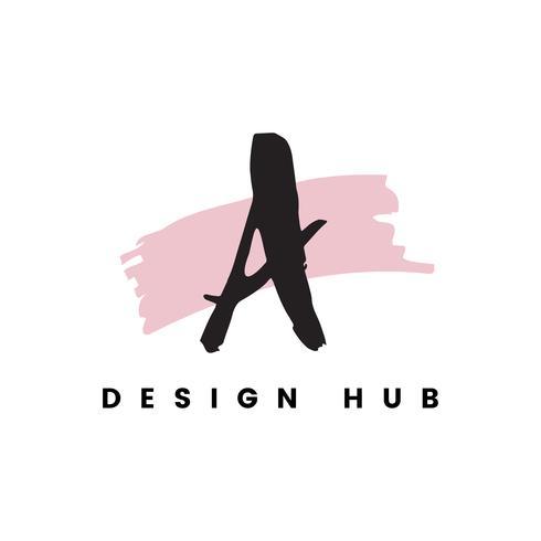 Un vettore logo design hub