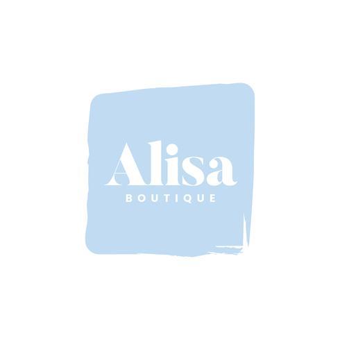 Alisa boutique logo branding vektor