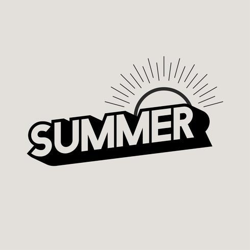 Illustration de l'icône de concpet d'été