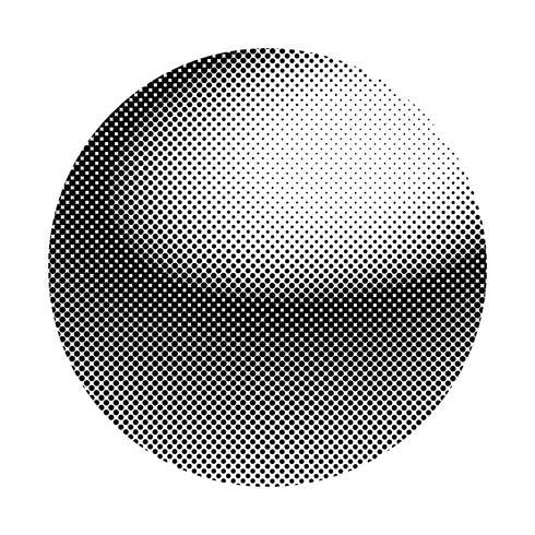 Insigne de demi-teinte noir sur le vecteur de fond blanc