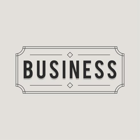 Illustration of business badge icon
