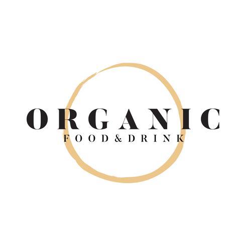 Vecteur de logo aliments et boissons biologiques