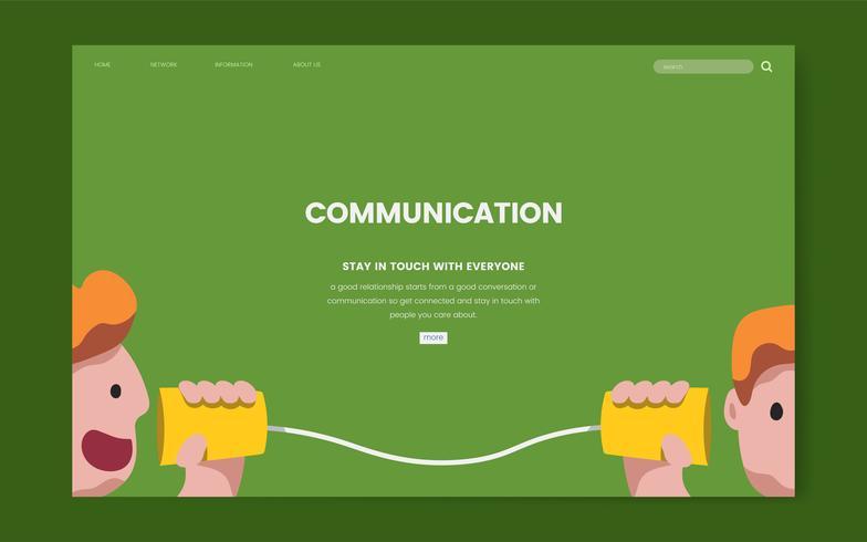 Kommunikations- und Informationswebsitegrafik