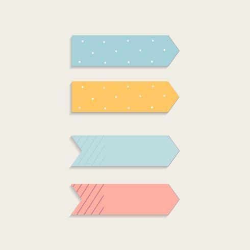 Set de notas adhesivas de colores