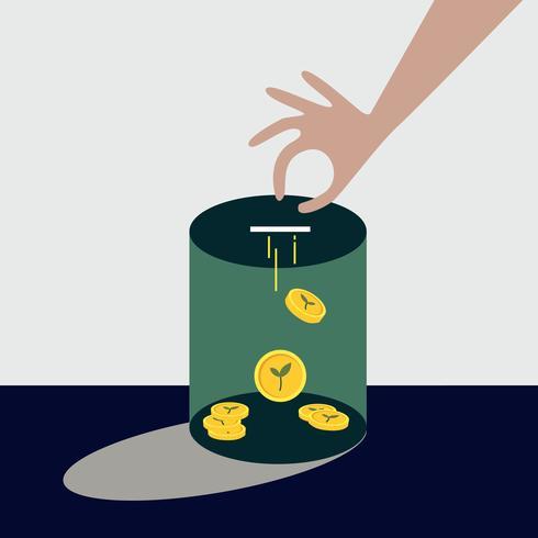 Collecte d'argent pour illustration de financement environnemental