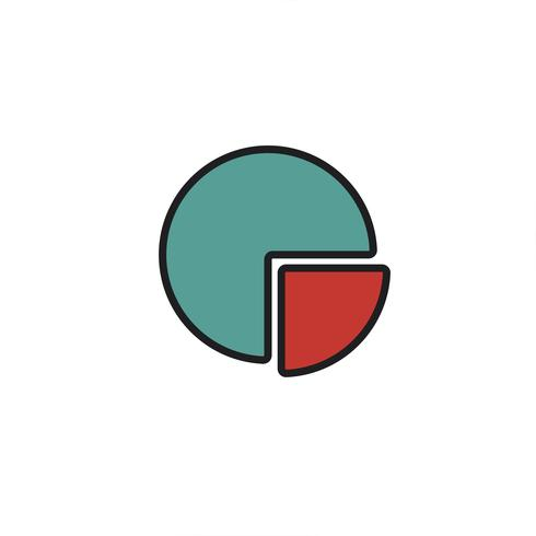 Graphique à secteurs colorés affaires icône illustration