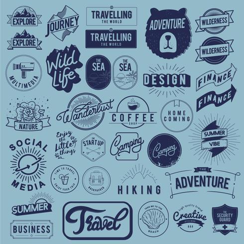 Ilustración de la colección de insignias.