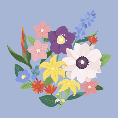 Abbildung eines Blumenstraußes der Blumen