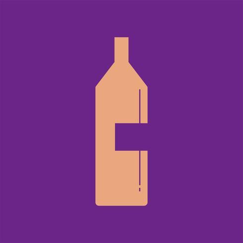 Bouteille de vin icône illustration