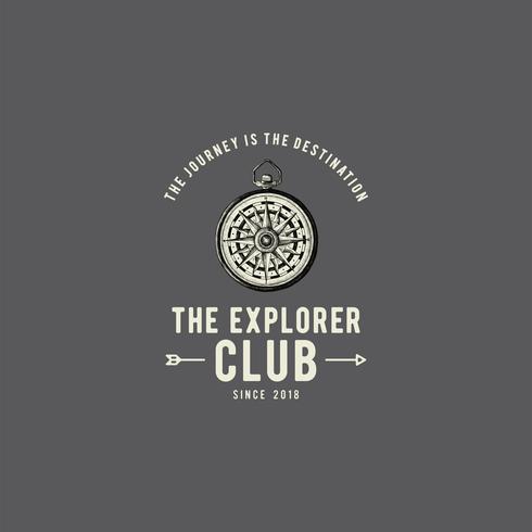 Le vecteur de conception de logo de club d'exploration