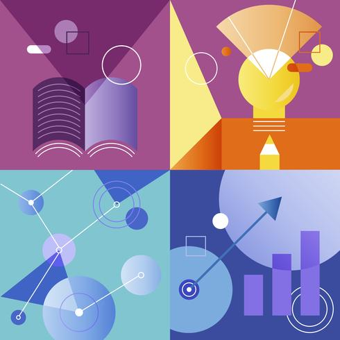 Ensemble d'illustrations de la stratégie commerciale