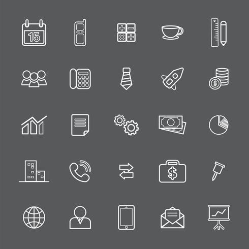 Illustration du jeu d'icônes d'affaires