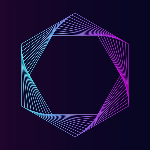 Abstract hexagon geometric element vector
