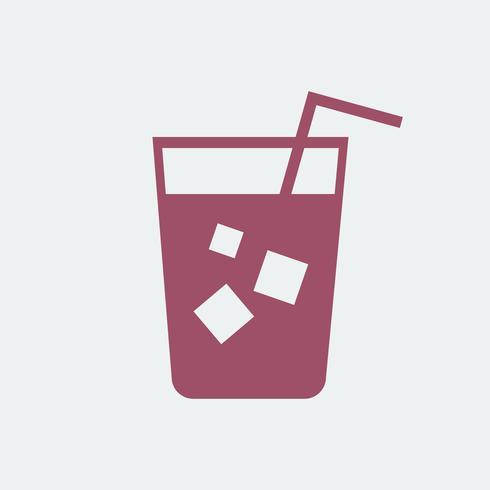 Uppfriskande kall dryck med halmillustration