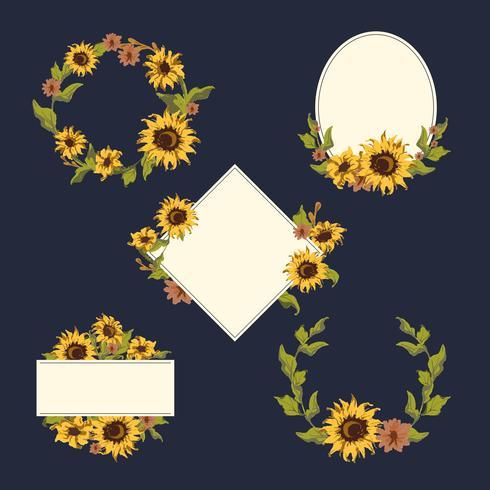 Zonnebloem krans collectie