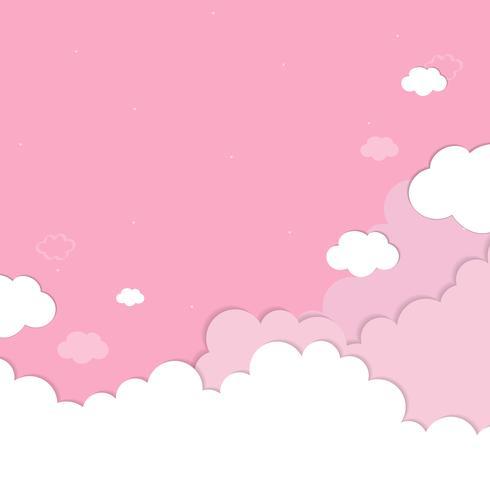 Fond de ciel rose nuageux