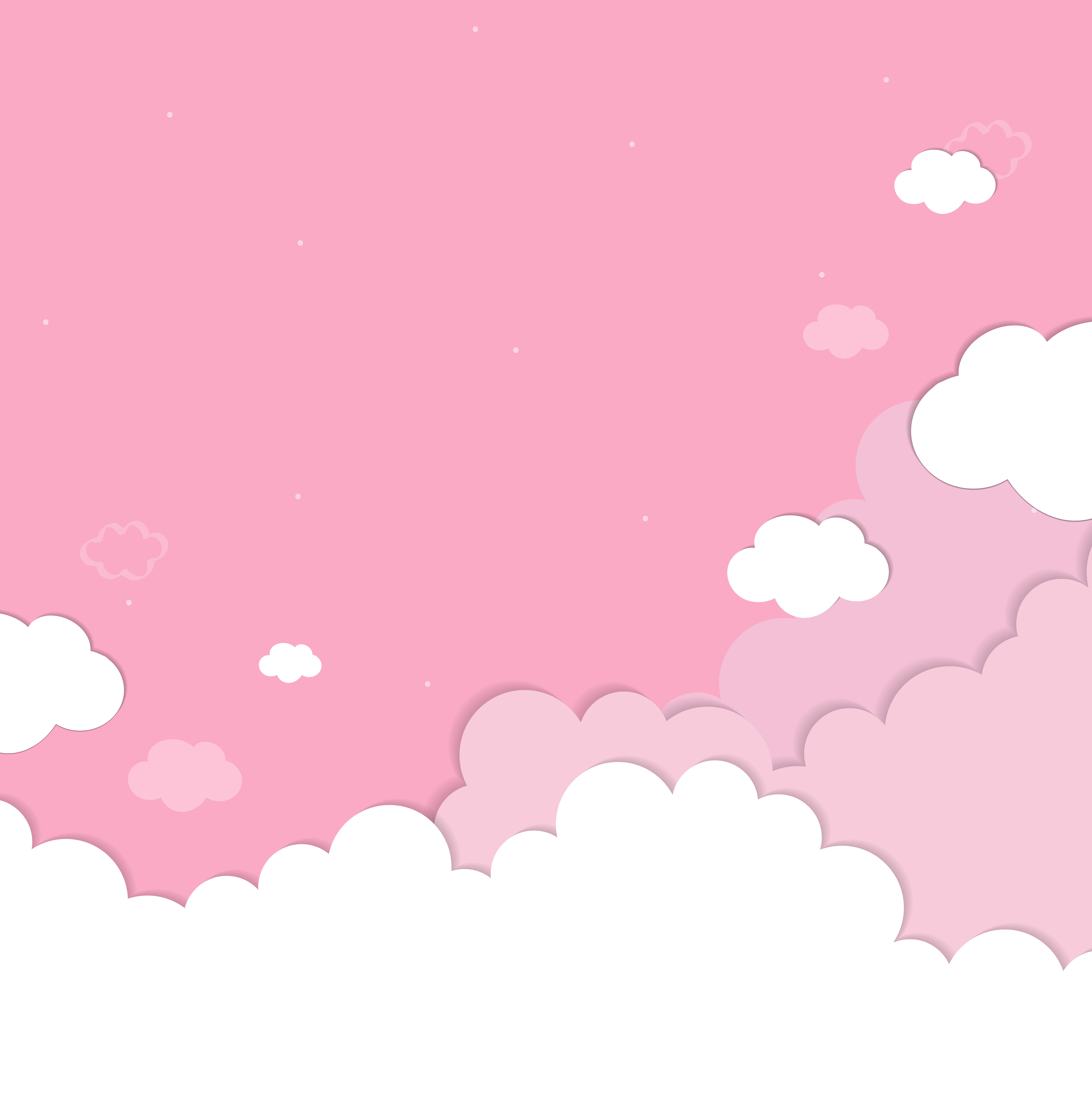 Картинки нарисованных розовых облаков