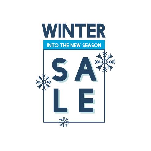 Vinterförsäljning till den nya årstidsvektorn
