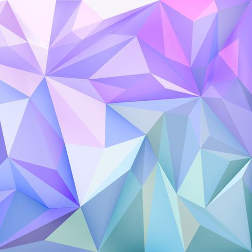 Achtergrondbehang met veelhoeken in gradiëntkleuren