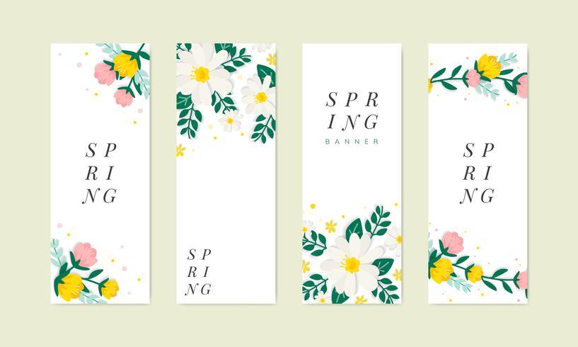 Vårblom illustration samling