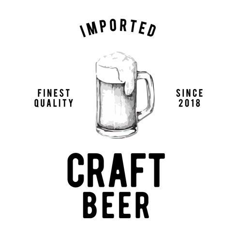 Craft beer logo design vektor