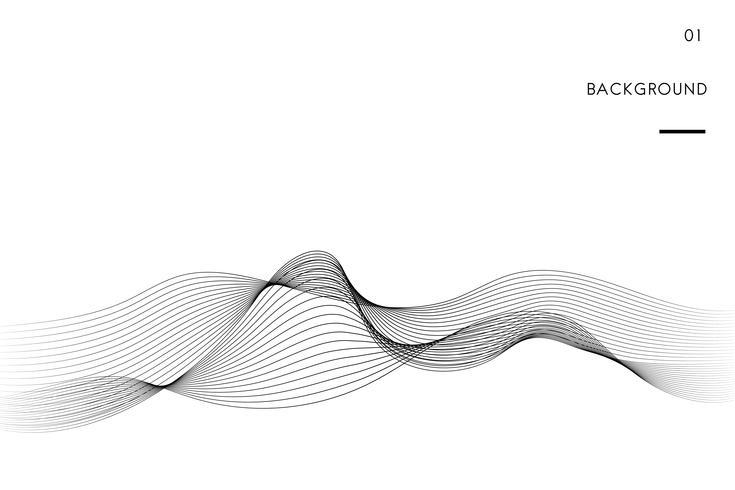Data visualisering dynamisk vågmönster vektor