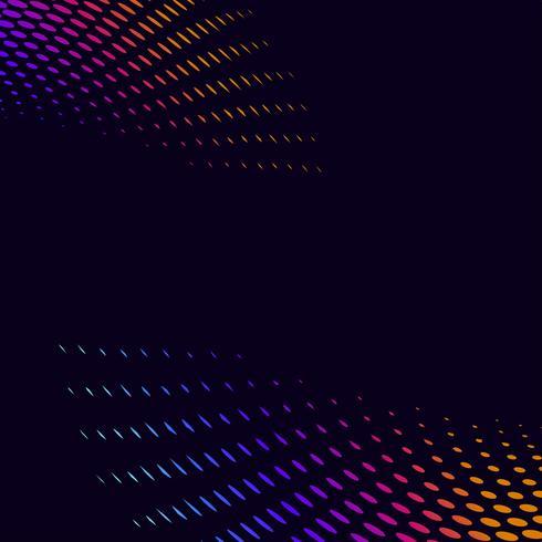 Vibrerande halvton på svart bakgrund vektor