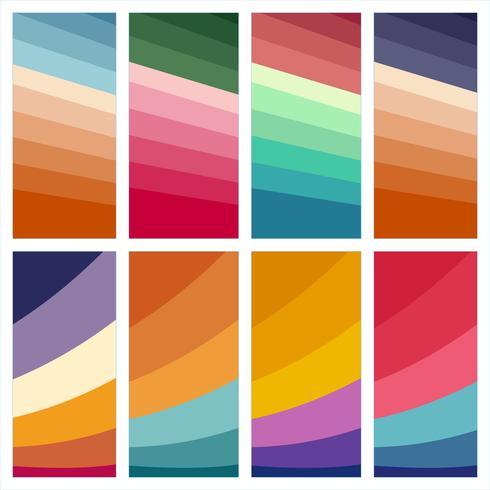 Reeks kleurrijke abstracte drukachtergronden