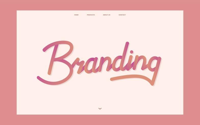 Business branding information webbplats grafisk