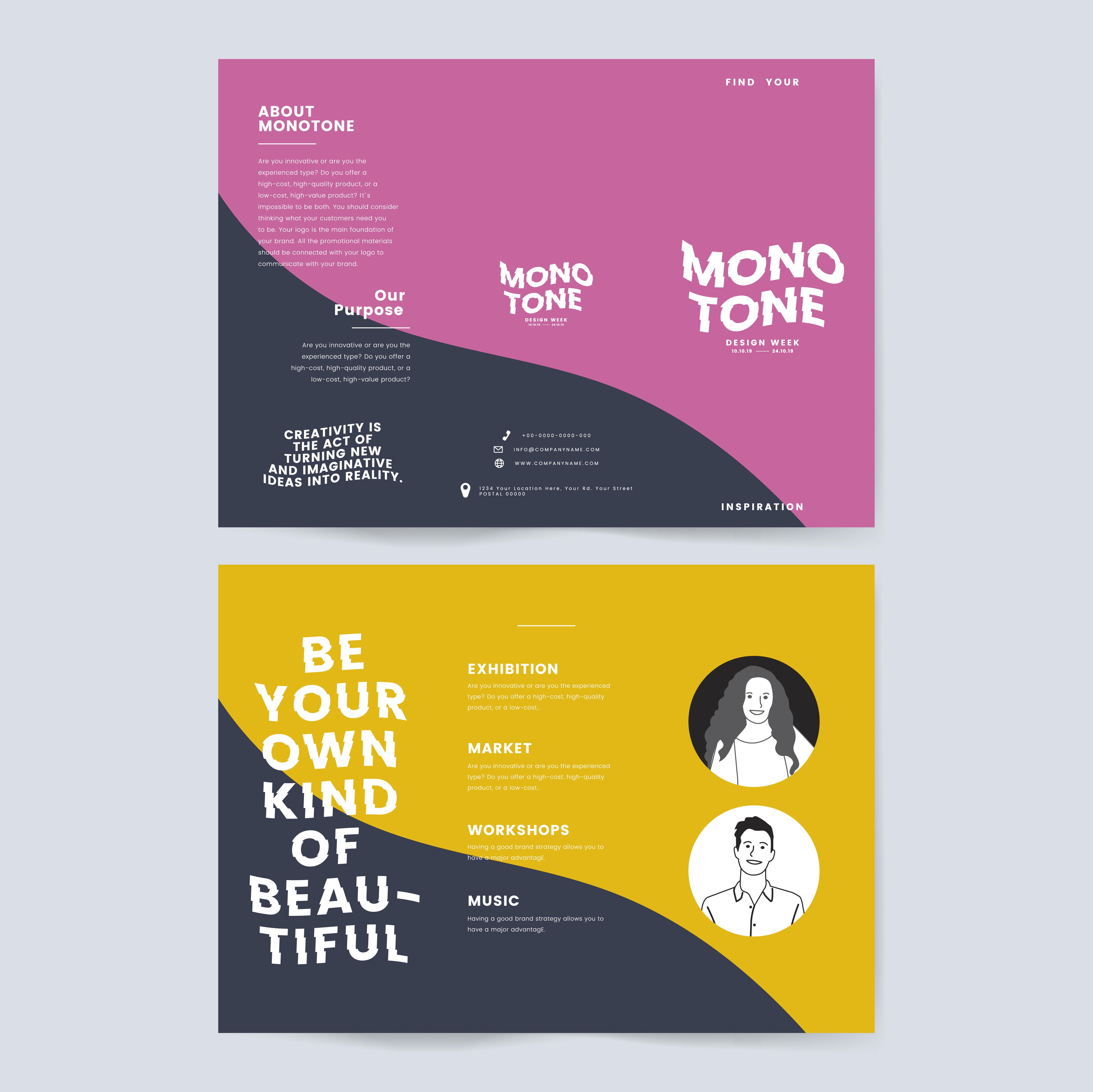 Sex education brochure template