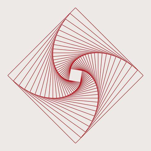 Vetor de elemento geométrico quadrado abstrato