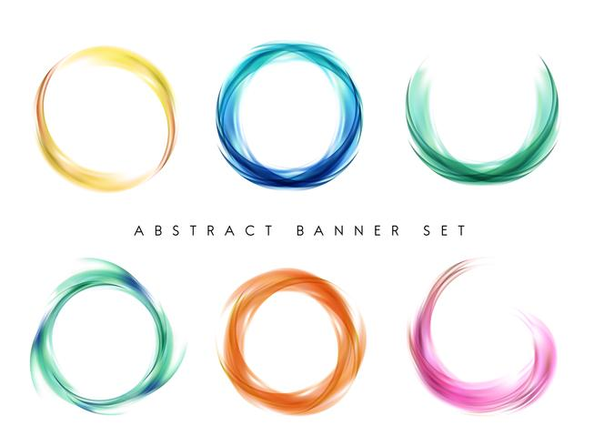 Set di disegno astratto colorato