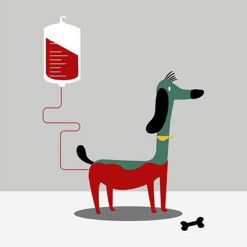 Dierlijke bloeddonatie vectorillustratie