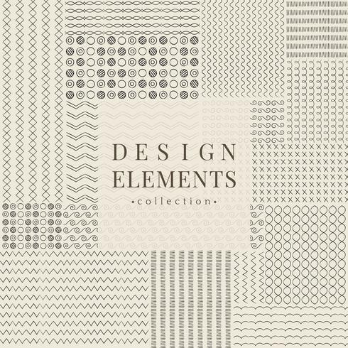 Trennlinie Designelemente Vektor-Sammlung