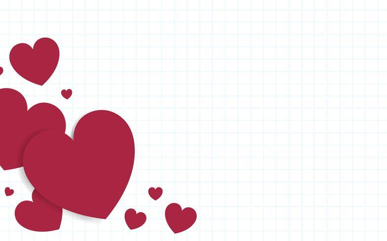 Illustration de fond de coeur