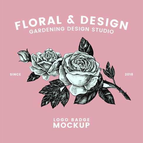 Vector de diseño de logo de jardinería y flores