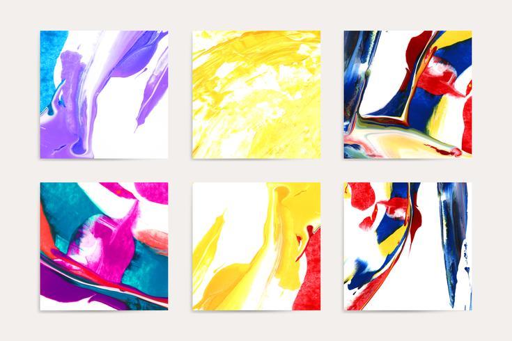 Gemengde acrylschilderijen