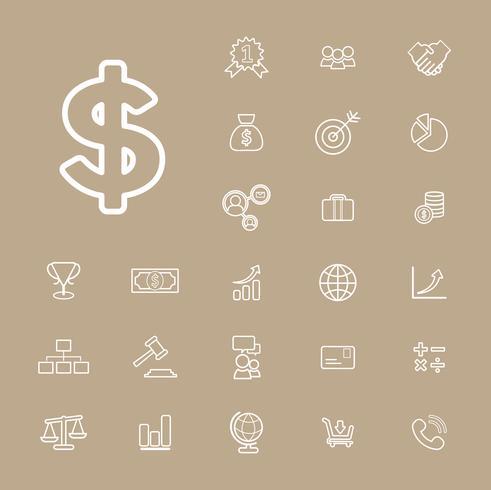 Illustration of financial icons set