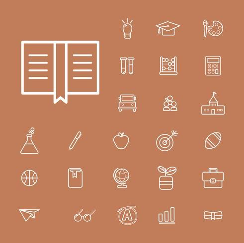 Illustration of education icons set