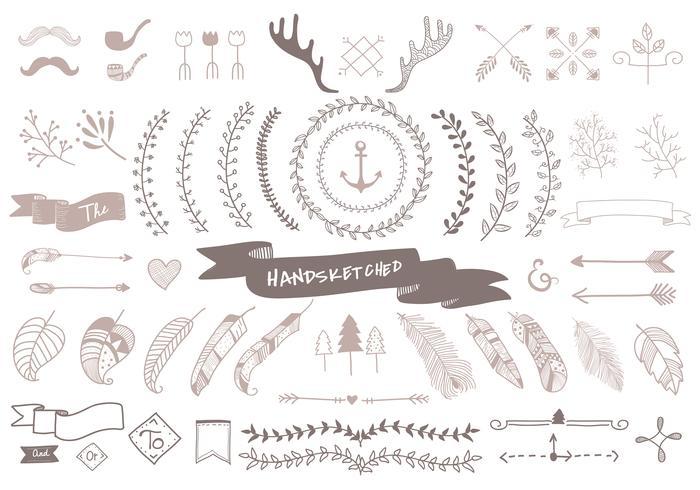 Hand drawn travel design