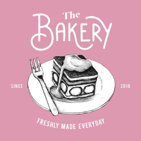 El vector de diseño de logotipo de panadería