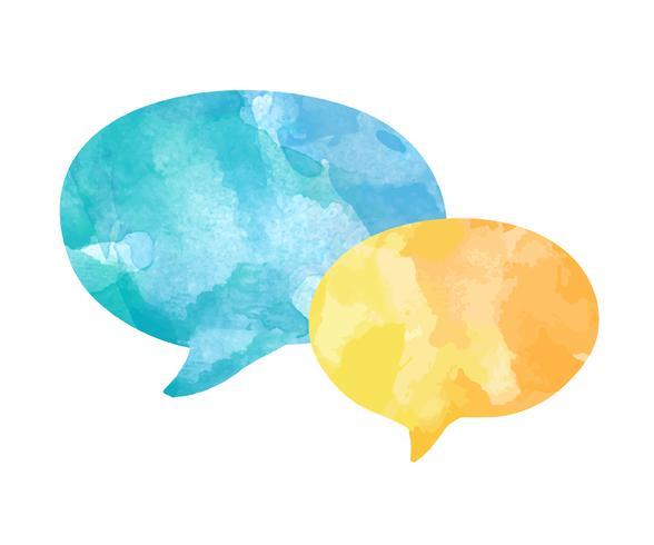 Kleurrijke aquarel spraak bubbels vector