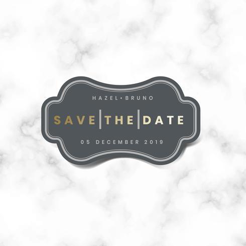 Save the date wedding invitation sticker vector