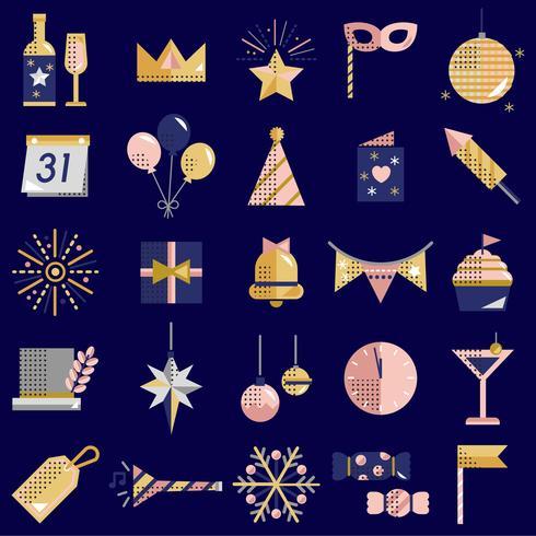 Le icone del nuovo anno hanno fissato il vettore