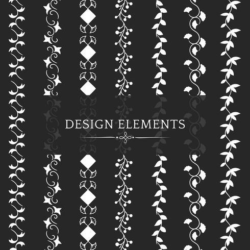 Coleção de vetores de elemento de design de divisor