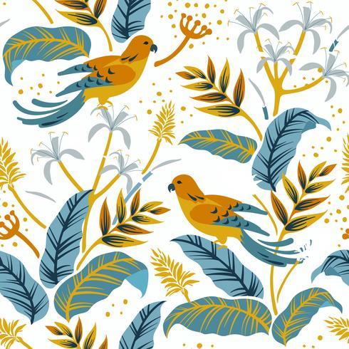 Pájaros en el diseño de la naturaleza.