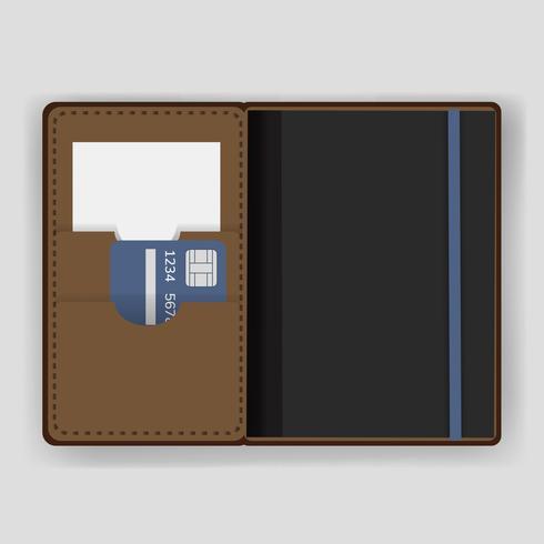 Paspoort houder dekking apparatuur vector