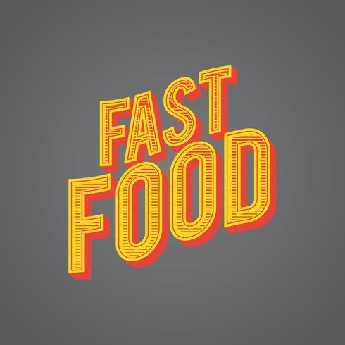 Vector de comida rapida